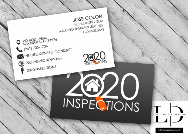 Best Business Card Designs 2020.2020 Inspections Lotty Dotty Designs